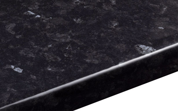 B&Q Ebony Granite Gloss Round Edge worktop