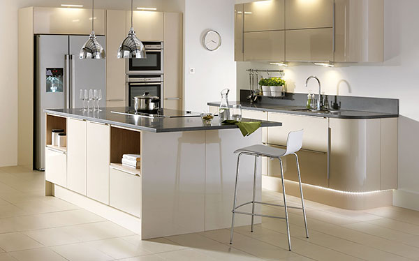 Homebase Sanvito Latte Fitted Kitchen