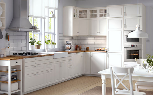 Ikea Bodbyn Off-White kitchen
