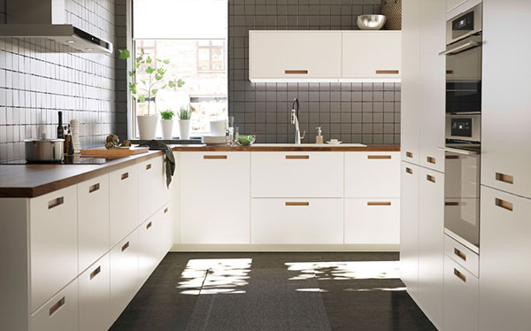 Ikea Kitchen Flooring Modern Ikea Kitchen With Splashback Tiles