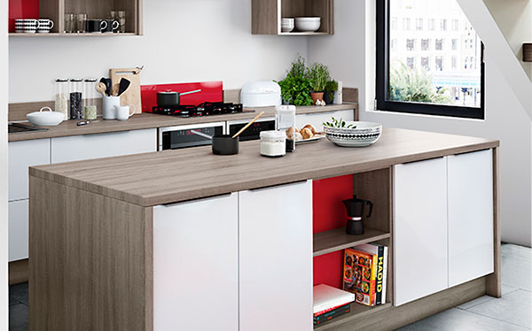 Modern wooden John Lewis kitchen