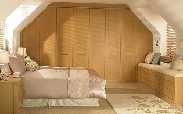 Sharps fitted wardrobe in real oak
