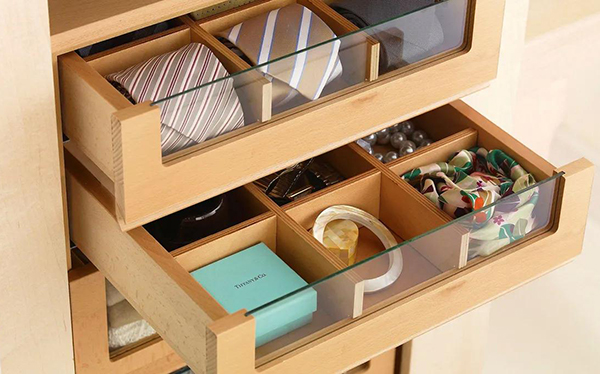 Sharps tie and jewellery drawers