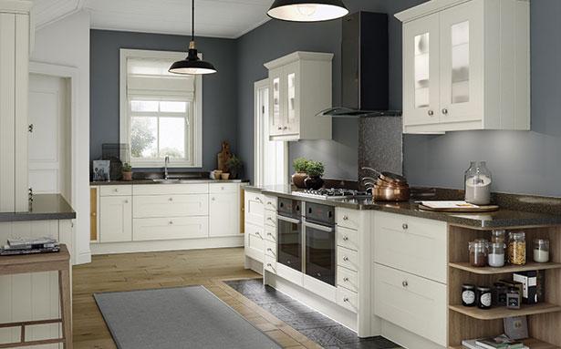 Wren Kitchens Edwardian Cream Matt kitchen