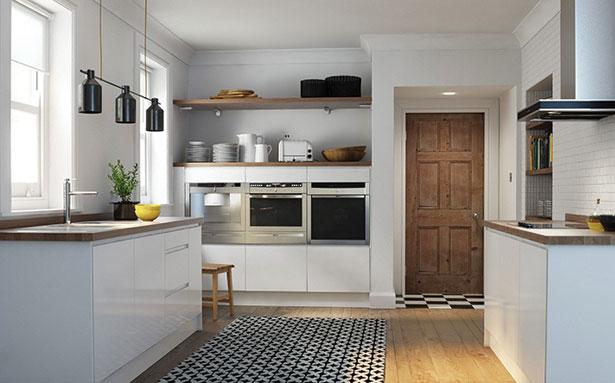 Wren Kitchens Handleless White Gloss kitchen