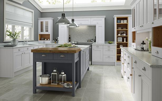 Wren Kitchens Shaker Ermine Classic Cream Matt kitchen