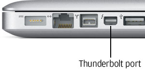 Thunderbolt port on Apple MacBook Pro
