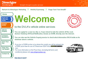 Visit the DVLA's car tax website