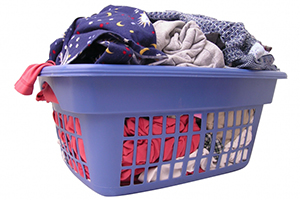Washing basket of clothes