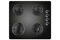 Gas-on-glass hobs