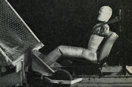An adult crash test dummy