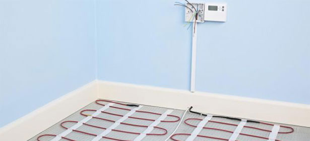 Electric Floor Heating Cable : Electric underfloor heating which