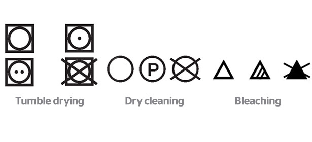 Tumble Drying Dry Cleaning And Bleaching Symbols